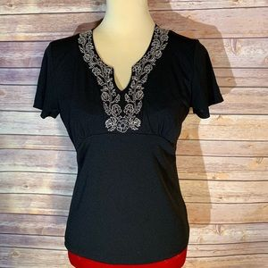 Evan Picone Black blouse. Size M